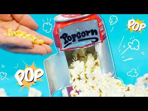 Make a DIY POPCORN MACHINE USING A SODA CAN ✄ Craftingeek