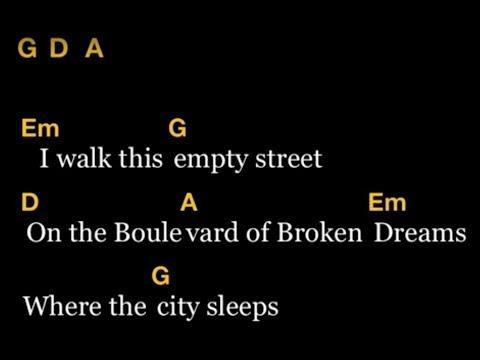 Boulevard Of Broken Dream(greenday cover) - Lirik & Chord gitar