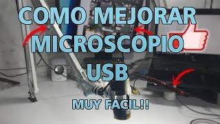 COMO MEJORAR MICROSCOPIO USB!! 🔬+💡=✅
