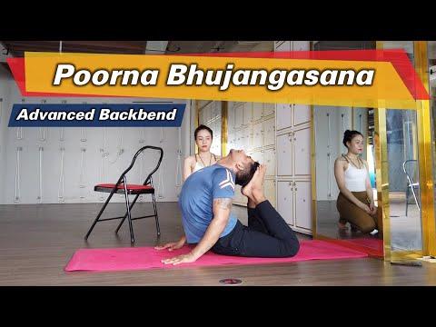 How to do Poorna Bhujangasana Full Cobra Pose | Tutorial Video for Advanced Backbend | Yograja