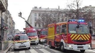 INCENDIE d'appartement Lyon- Intervention Sapeurs-Pompiers.