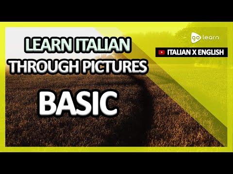 Learn Italian Through Pictures  Italian Vocabulary Basic   Golearn