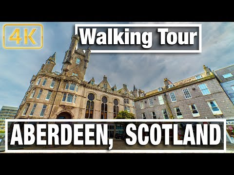 City Walks - Aberdeen Scotland Walking Tour - Virtual walk and Walking Treadmill Video