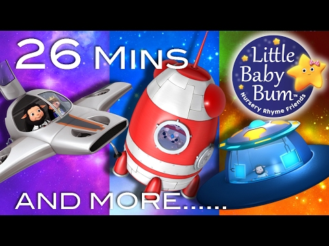 Spaceships & Outer Space Songs! | Plus More Nursery Rhymes | 26 Mins Compilation by LittleBabyBum!
