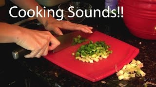 ASMR * Tapping &amp Scratching * Cooking Sounds: Teriyaki Chicken * Fast Tapping * No Talking