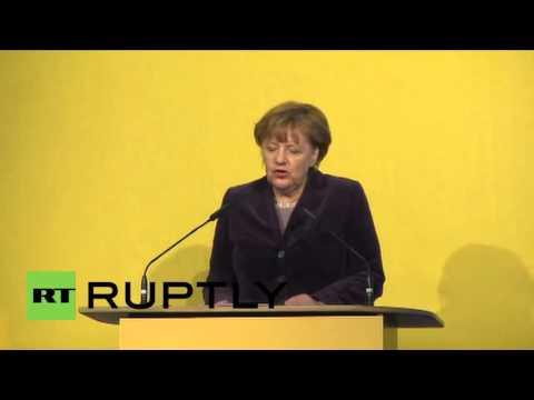 Germany: Merkel attends new hydrogen plasma stellarator's opening ceremony
