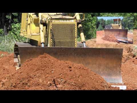 Fiat Allis FD7 Dozer and Fiat Allis FL10C Loader Pushing Dirt
