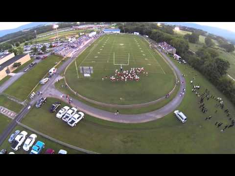 flying over Bledsoe Football game