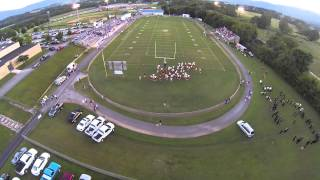 flying over Bledsoe Football game