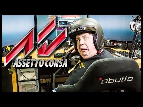 "Assetto Corsa w/ Obutto R3volution, (3) 46"" Displays, T500RS, Fanatec CS v2 & TH8"
