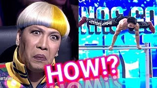 GOLDEN BUZZER For The Best Pull Up Bars Audition On Pilipinas Got Talent Geeks  2018