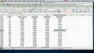 How to Use Trig Functions in Excel : Excel Calculations