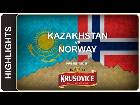 Norway wins key game - Kazakhstan-Norway HL - #IIHFWorlds 2016 - 동영상