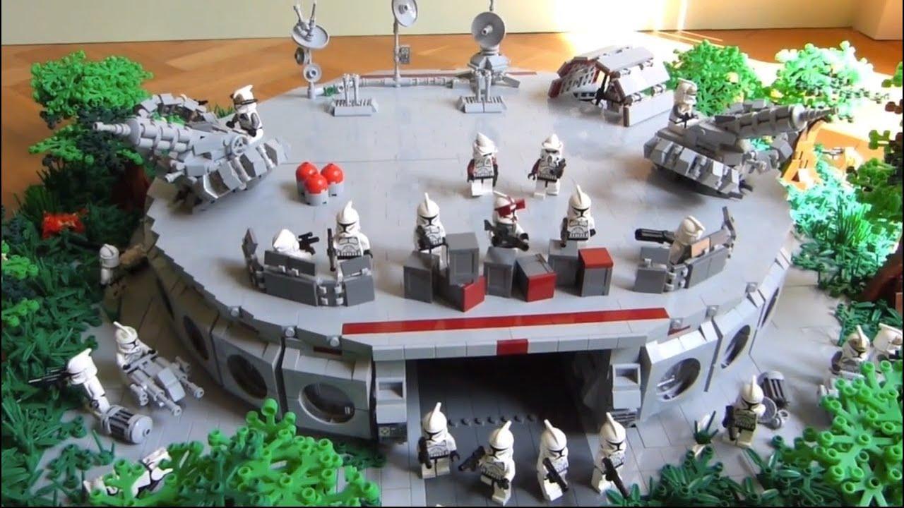 Lego Star Wars Clone Base On Endor Moc Huge Youtube