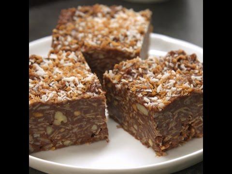 No-Bake PB Chocolate Coconut Bars