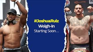 Anthony Joshua V Andy Ruiz LIVE Weigh IN