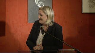 Marine Le Pen présente son projet pour la région Nord-Pas-de-Calais-Picardie