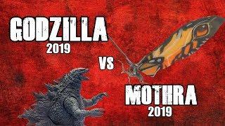 GODZILLA 2019 VS MOTHRA 2019 TOY BATTLE