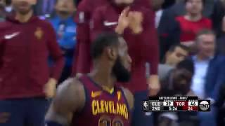 Cavs' LeBron James Scores 26 Points, 11 Rebounds and 13 Assists in Game 1 Win Vs. Raptors