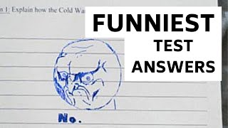FUNNY Kid Test Answers CLEAN