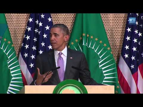 President Obama Speaks on democracy in Africa and Ethiopia