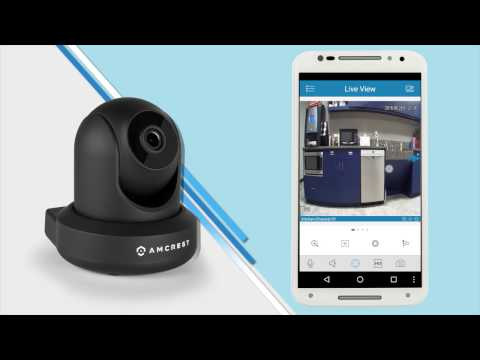 Amcrest 1080P WiFi Video Monitoring Security Wireless IP Camera with  Pan/Tilt, Two-Way Audio, Plug & Play Setup, Optional Cloud Recording, Full  HD