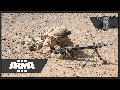 German MG3 1200rpm Machinegunner - ArmA 3 - Bundeswehr Retre