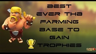 ClashofClans |#3BEST TH8 BASE EVER TO GAIN TROPHIES WITH REPLAYS | Chief Indian