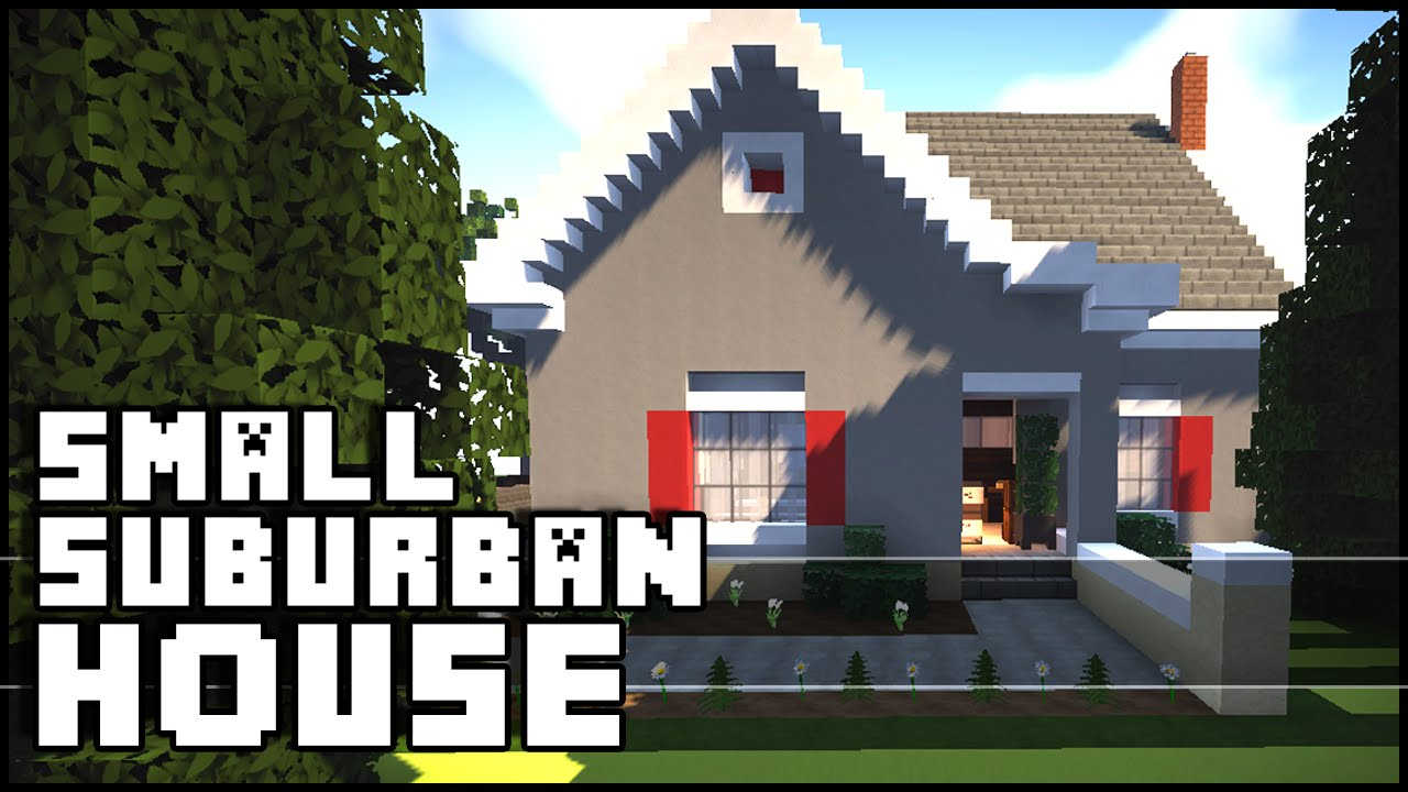 Minecraft Small Simple Suburban House Youtube