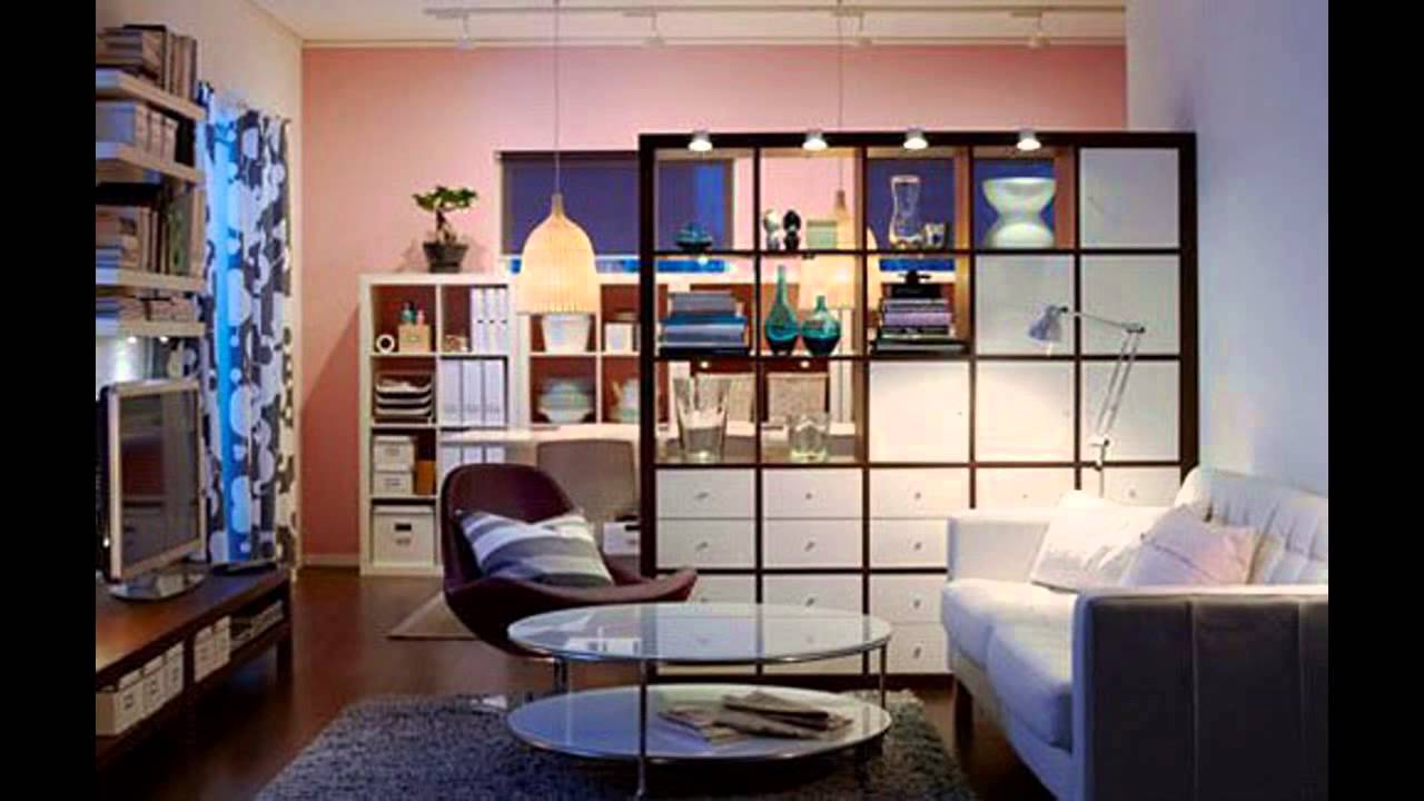 Simple living room divider design ideas youtube for Living dining room separation ideas