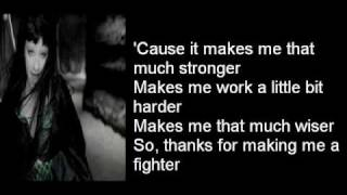 Christina aguilera fighter lyrics