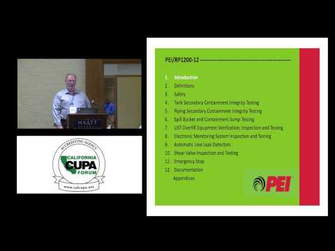 PEI 900/1200: OVERVIEW OF UST FACILITY INSPECTION GUIDANCE