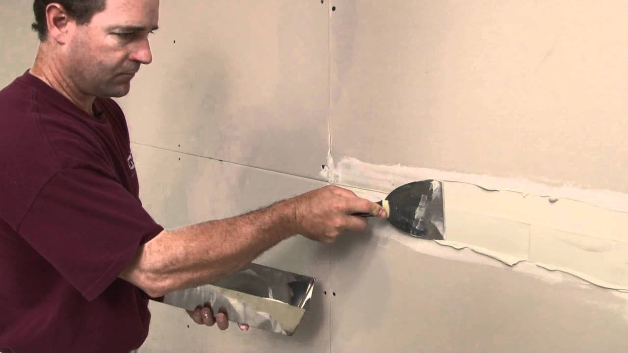 How To Tape A Drywall Joint Part 1 Youtube