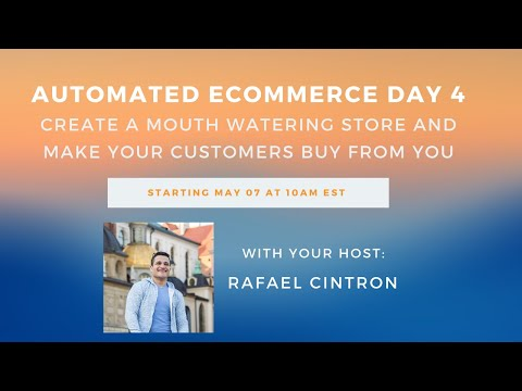 (DAY 4) Automated Ecommerce 5-Day Training: How to Make a MOUTH-WATERING Shopify Store That Converts thumbnail
