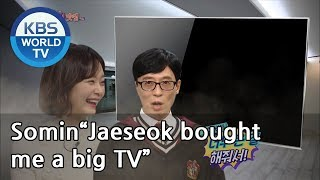 """Somin""""Jaeseok bought me a big TV, but it's too big for my house""""[Happy Together/2019.03.14]"""