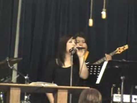 Karina Singing at Power Church in Elsa, Texas