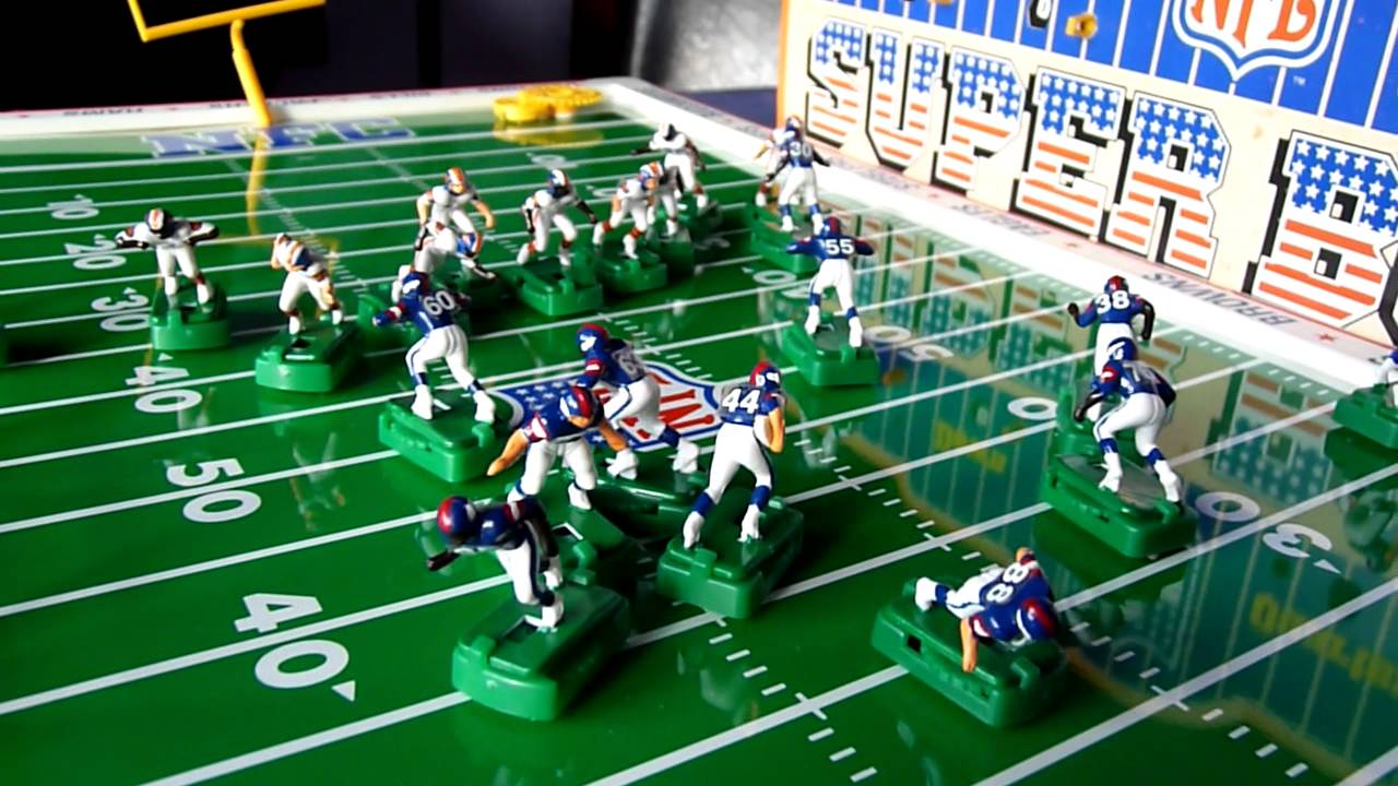 Nfl Super Bowl 1986 Electric Football Game Youtube