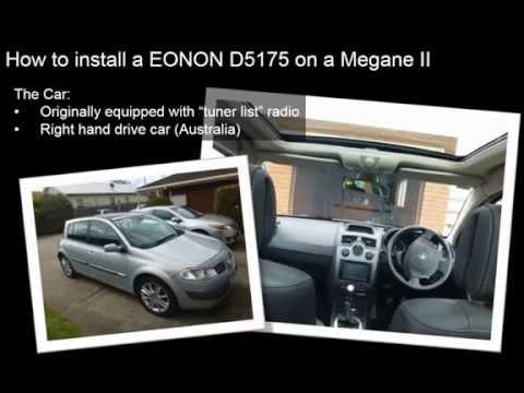 Installation of a DVD-GPS-Radio Mp3 (EONON D5175) on a Renault Megane 2