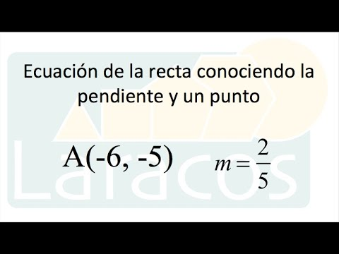 Ecuación de una recta y = mx + b