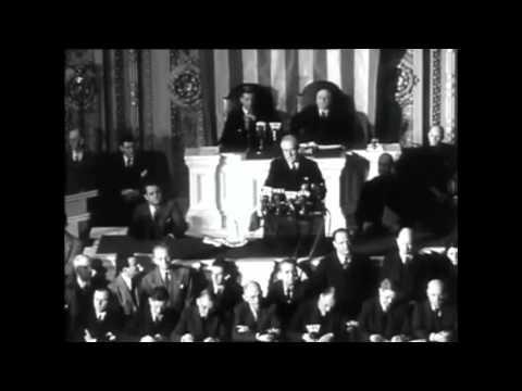 FDR Declares War On Japan (Infamy Speech)
