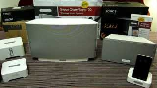 My home SONOS system - multi room - Hands on Review. PLAY 3, PLAY 5, CONNECT, BRIDGE & DOCK