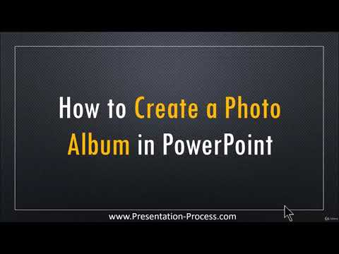 how to create photo album