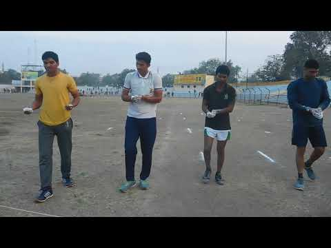Preparation of 100 meters track and Trial runs for RRCAT aspirants.