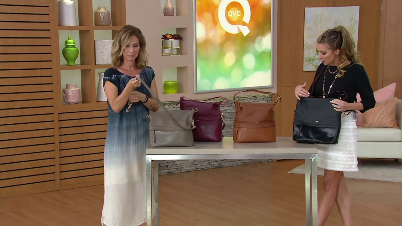 LODIS Smooth U0026 Pebble Italian Leather Hobo With RFID   Sunny On QVC