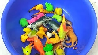 Learn Colors with wild animals and Sea Animal Toys baby and Mum Sharks Toys for Kids Toddlers