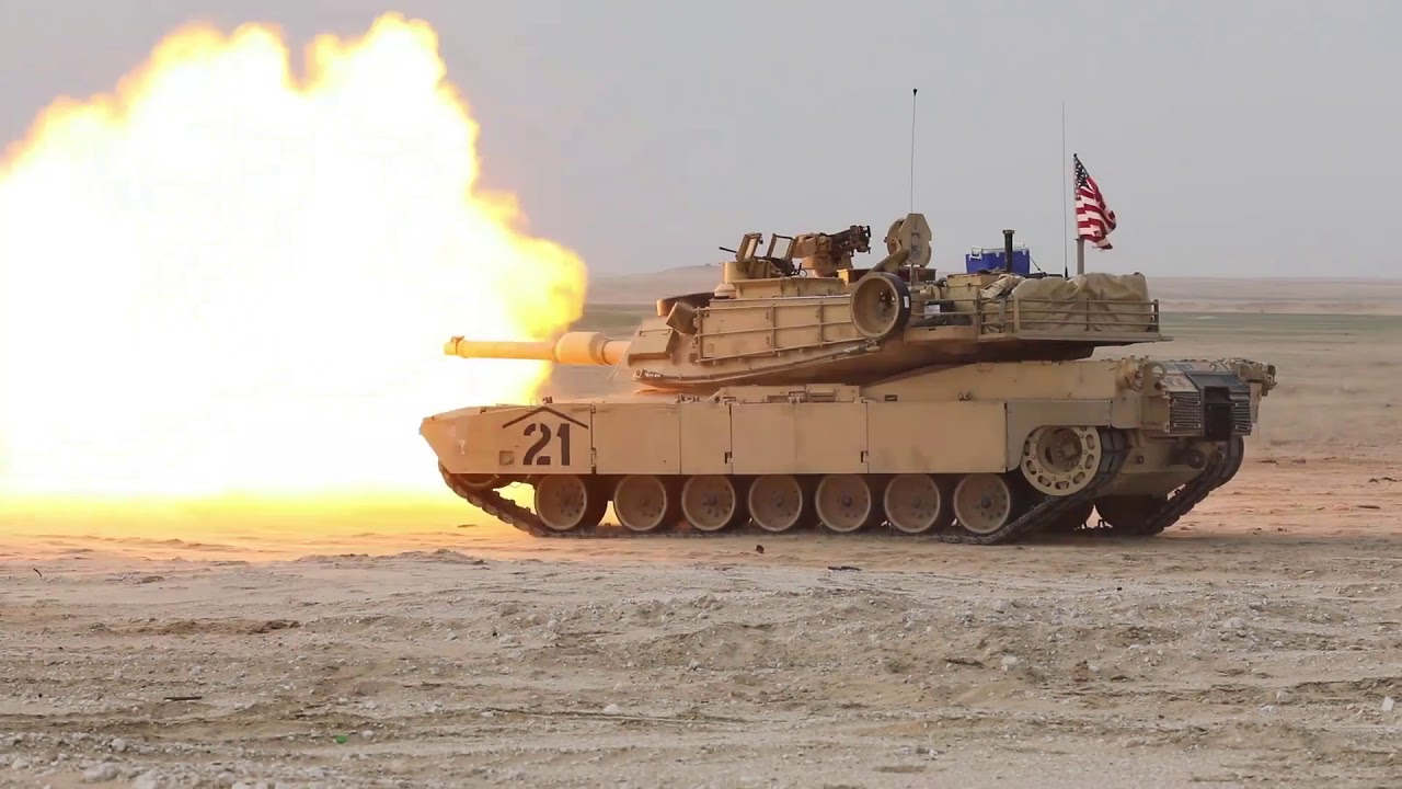 US Military News • NAVCENT CMDR Fires from M1A2 Abrams • Kuwait, February 17, 2021