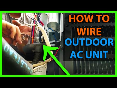 How To Wire an Air Conditioner Condenser Outside Unit - High & Low Voltage AC Wiring