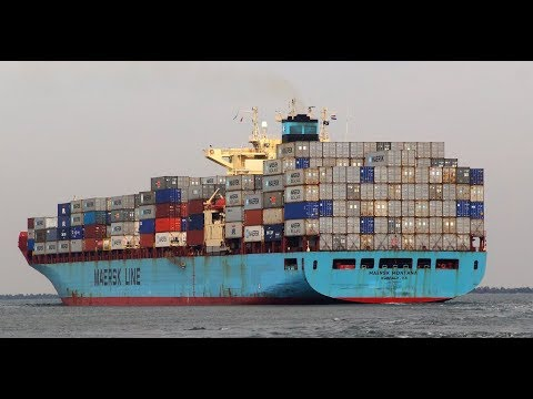 Onboard Container Ship (HD 60fps)