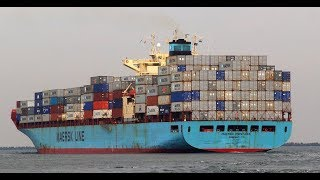 Onboard Maersk Container Ship (HD 60fps)