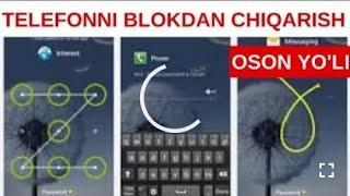 TELEFON KODINI OCHISHNING ENG OSON USULI. ANDROIDLARNI BULOKDAN CHIQARISH HAQIDA MyTub.uz